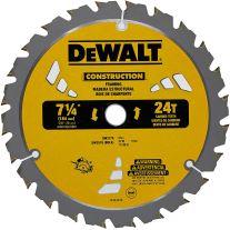 """Dewalt DW3578B10 7-1/4"""" x 24 Tooth Carbide-Tipped Framing Saw Blade"""