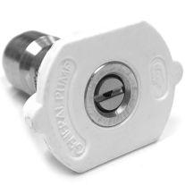 General Pump 8.708-696.0 White Quick Connect Pressure Washer Nozzle 4008 (40-Degree, Size #08)