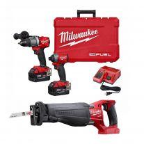 Milwaukee 2997-22 M18 FUEL 2-Tool Combination Kit + Free M18 Fuel Sawzall